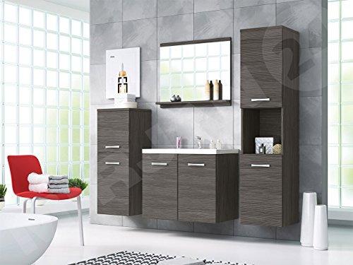 Badmöbel Set Maja mit Waschbecken und Siphon, Modernes Badezimmer ...