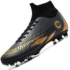 Idea Regalo - Donbest Scarpe da Calcio Spike Uomo Tacchetti Professionale del Ragazzo Scarpe da Allenamento per Calzature da Calcio