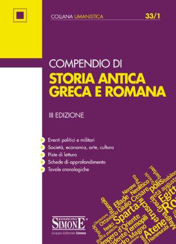 Compendio di Storia antica Greca e Romana: