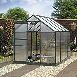 Gardman Green-Framed Aluminium Greenhouse 8 foot x 6 foot (with base)