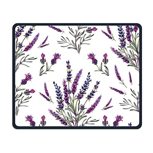 Wireless Mouse Pad, Lavender Purple Flower Print Mouse Pads, Magic Keyboard PC Gaming Optical Laptop Wired SurfaceMouse Pad Mat for Women Men at Home or Work (Purple Wireless Mouse)