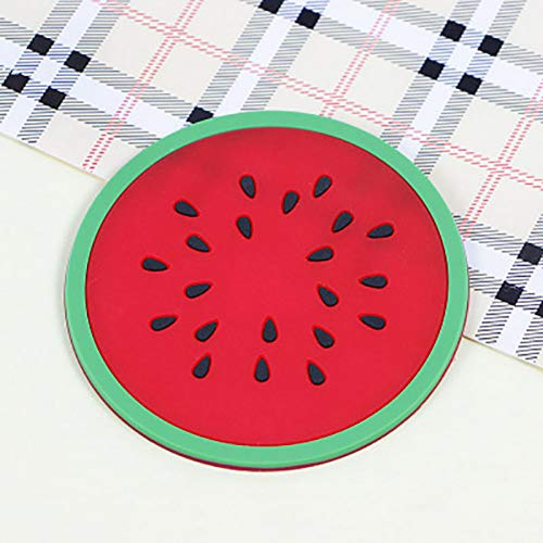 AJKFH Tee-Untersetzer Tasse Matte Pad Coaster Fruchtform Silikon Tasse Pad Slip Isolierung Pad Heißes Getränk -