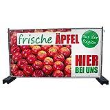 (PVC) Frische Äpfel B1 Werbebanner, Banner, Werbeschild, Plane, Werbung, 340 x 173 cm, DRUCKUNDSO