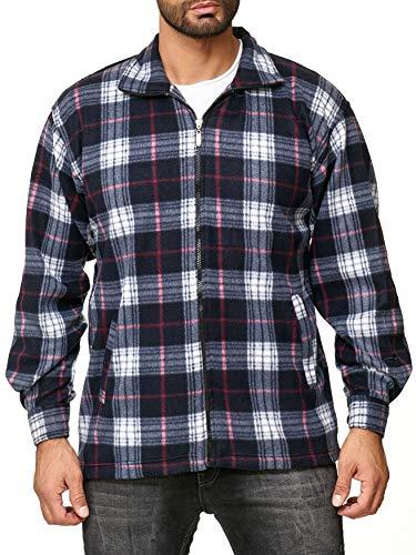 Arizonashopping camicia uomo in pile lumberjack a quadretti, colore:black-red, dimensione giacca:l