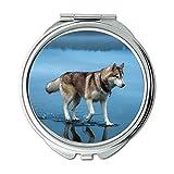 Yanteng Spiegel, Kleiner Spiegel, Weimaraner Hund, Taschenspiegel, 1 X 2X Vergrößerung