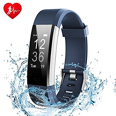 Fitness Tracker, Ginsy Activity Tracker Watch with Slim Touch Screen Wristbands, Wearable Smart Bracelet Pedometer Sleep Monitor for Android and iOS from Ginsy
