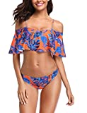 MEMORY BABY Damen Bikini-Set Gr. 40/42 DE (Large), Blue/Orange