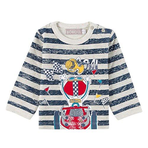Bóboli Baby-Jungen Fleece Sweatshirt For Boy Grau (Melange Grey 8034), 62 (Herstellergröße: 3M)