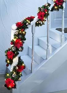weihnachtsgirlande girlande 6m x 25cm innen und au en. Black Bedroom Furniture Sets. Home Design Ideas