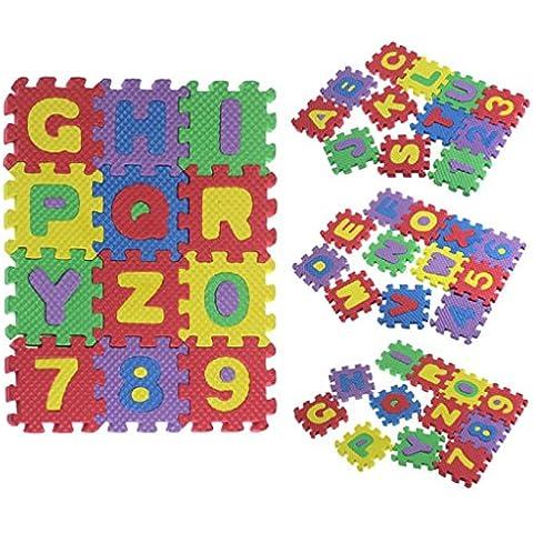 Fortan 36pcs del bambino del bambino Numero puzzle di alfabeto Schiuma regalo giocattolo educativo Mats