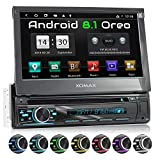 XOMAX XM-DA755 Autoradio con Android 8.1 I Quad Core, 2GB RAM, 16GB ROM I Navigatore GPS I Supporto WIFI, 4G, DAB, OBD2 I Bluetooth I Touch Screen 7'' I DVD, CD, USB, SD, AUX, RDS I 1 DIN