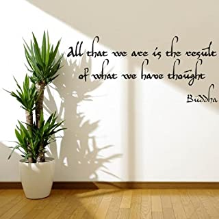 Buddha ''All that we are... '' Wandtattoos Vinyl Wall Stickers Decals