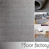 floor factory Tappeto Gabbeh Karma Grigio 140x200 cm - Fatto a Mano di 100% Lana Vergine