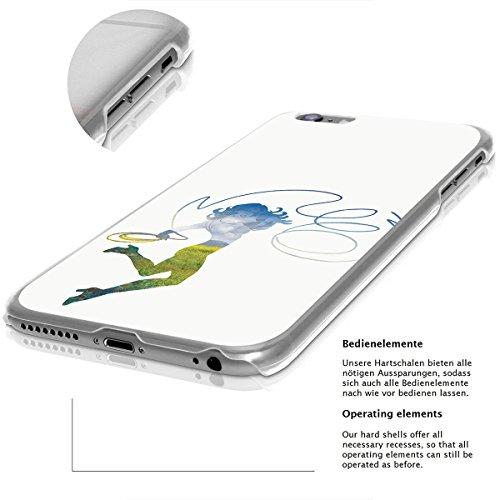finoo | iPhone 8 Plus Handy-Tasche Schutzhülle | ultra leichte transparente Handyhülle in harter Ausführung | kratzfeste stylische Hard Schale mit Motiv Cover Case |Wonder woman Art Lasso Landscape