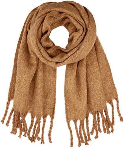 PIECES Damen Schal PCRYSMIN Long Scarf, Braun Monks Robe, One (Herstellergröße:ONE Size)