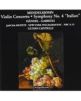 Violin Konzert Op.64,Sinfonie 4 NBC
