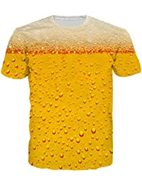 BFUSTYLE Unisex 3D Impreso Verano Ocasional de Manga Corta O-Cuello Superior Camisetas Camisetas