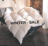 REVITAL warme Ganzjahres Daunendecke 155x220 cm Daunenbett, 1100g 90% Daunen,Wärmeklasse 3, 4x6 Kassetten, 3cm hohe Innenstege, MADE IN GERMANY (155x220 cm)