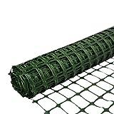 SORARA Kunststoffnetz/Zaun/Barriere Grün | 30 M / 3000 cm lang | 1,2 M / 120 cm hoch/langlebig/Maschen/Rolle/Rasen/Garten/Landwirtschaft/Außenbereich/BAU/Warnungen