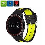 ORDRO CF007 Bluetooth Watch Blood Pressure Heart Rate Pedometer APP Yellow