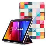 """ASUS ZenPad 10 Z301ML / Z301MFL / Z300M / Z300C Étui - Housse à Rabat Fonction Réveil / Sommeil Automatique pour ASUS ZenPad 10 Z301ML / Z301MFL / Z300M / Z300C Tablette Tactile 10.1"""", Cube Coloré"""