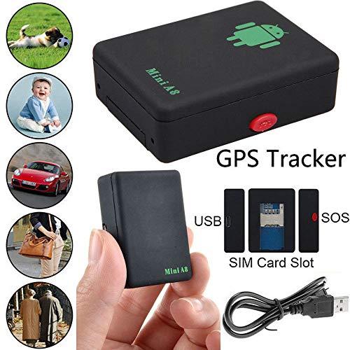 SPYCENT - Rastreador GPS para niños, tamaño A8, con Tarjeta SIM y...