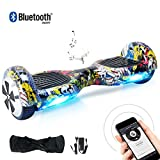BEBK Hoverboard 6.5' Smart Self Balance Scooter con Bluetooth, Overboard con LED Autobilanciato...