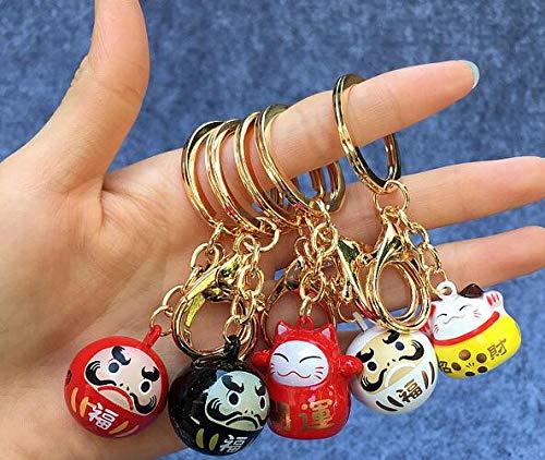 YPT Ty-174 Schlüsselanhänger mit Katzenglöckchen, japanisches Anime-Motiv, 10 Stück