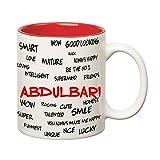Huppme Good Personality Abdulbari Inner Red Mug