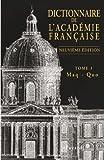 Dictionnaire de l'Académie française, tome 3 - Maq - Quo