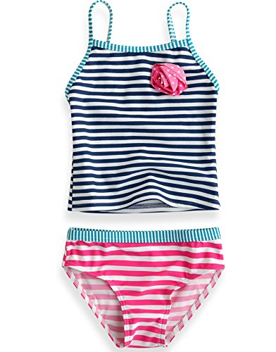 Vaenait Baby 74-110 Little Girls Tankini Swimsuit withoutout Cap Pippi Rose Two-Piece XS (Swimsuit Two Tankini Piece)