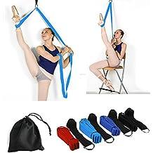 Price Xes Sangle réglable pour étirer les jambes–Facile à installer sur une porte–Pour augmenter la souplesse et pour les étirements des jambes en danse, cheerleading, gymnastique, taekwondo