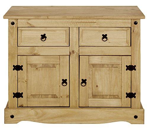 Möbel Anrichte Sideboard Kommode Stil 3 Türen 3 Schubladen gebeizt gewachst
