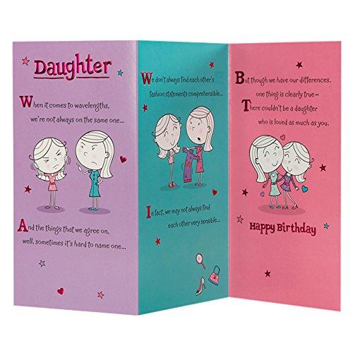 Hallmark Biglietto Di Auguri Di Compleanno Per Figlia Fold Out Poem