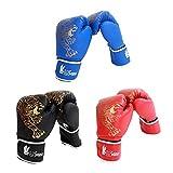 Yves25Tate Yves25Tate Premium Boxhandschuhe Für Erwachsene & Kinder, Kinder Taekwondo Sanda Combat Handschuhe, Dick, Verschleißfest, Wasserdicht, Für Sparring, Kickboxen, Boxsack, Kampf, Muay Thai, Sport