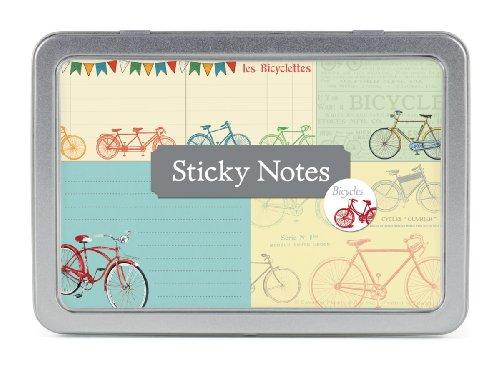 Cavallini Papers Sticky Notes, vélos, Lot de 5