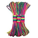 Leosi – 31 m langes Nylonseil in Regenbogenmuster, als Fallschirmschnur oder zum Flechten von Armbändern, aus 7 Strängen, 1 Stück