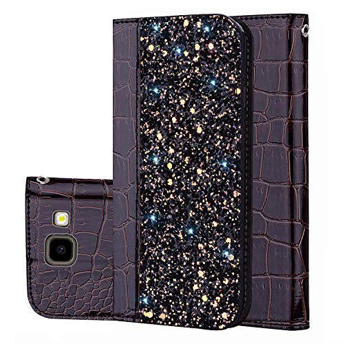 Galaxy J4 Plus Handyhülle [Premium Leder] [Standfunktion] [Kartenfach] [Magnetverschluss] PU Schlanke Leder Brieftasche für Samsung Galaxy J4 Plus (2) -
