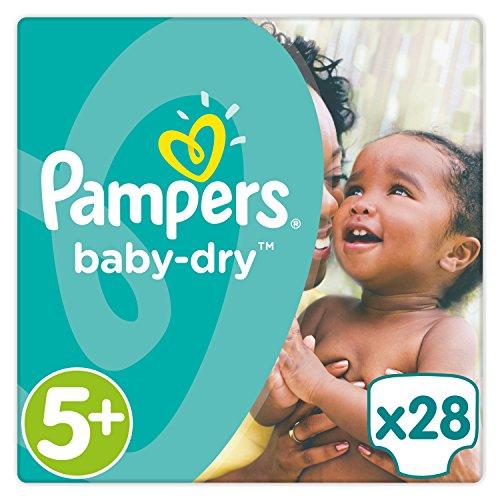 Pampers Baby-Dry Größe 5 plus, 28 Stück