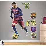 FC Barcelona Neymar - Vinilo decorativo oficial fútbol, 120 x 57 cm