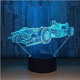 Cool Sport Racing 3D Led Lampe Capteur Tactile À Distance 3D Veilleuse Pour Les Fans Du Sport Meilleur Cadeau...