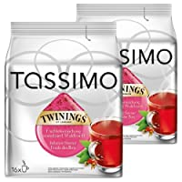 Tassimo Twinings Fruits of the Forest Tea, Pack of 2, 2 x 16 T-Discs