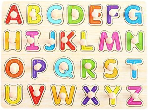 [Letters] Finger formation Peg Puzzle Jouet en bois Creative Creative Creative éducation   Vente Chaude  b7d37f
