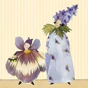 20 Servietten * Blütenzauber* von Silke Leffler im Grätz-Verlag // SER 28007 // Papierservietten Napkin Deko 3-lagig Herbst Lila Frühling