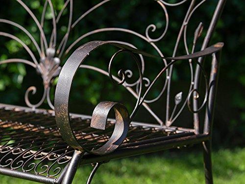Nostalgische Gartenbank Vogel Eisen Metall Bank Nostalgie antik Stil Vögel - 5