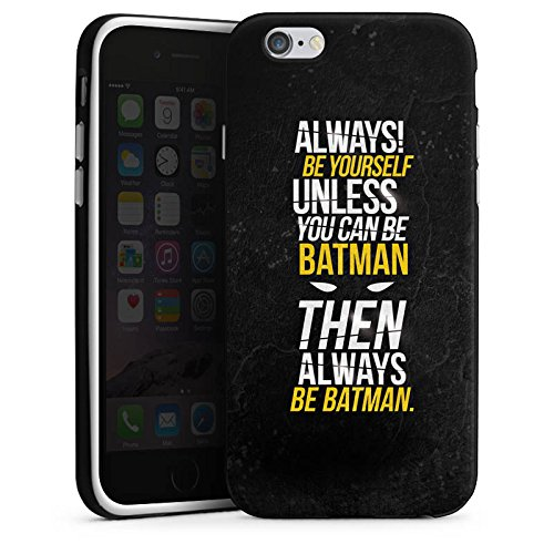 Apple iPhone 7 Hülle Case Handyhülle Batman Sprüche Statement Silikon Case schwarz / weiß