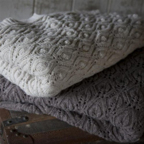 Flora Knitted Throw (Mocha or Beige) (Mocha)