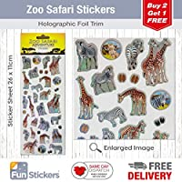 Fun Stickers Safari Giraffes & Zebras 1040