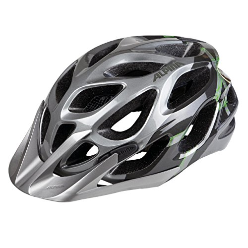Alpina Mythos 2.0 Fahrradhelm, Mehrfarbig (Darksilver/Titanium/Green), 57-62 cm