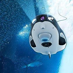 Power Vision Powerray sous-Marine Drone Marine Caméra De Pêche 1080P Assistant avec 4K UHD Navigation RC Submarine Ready Vision FPV Modèle
